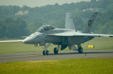 f-18 hornet jet fighter - taxiing