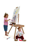 adorable kids painting poster
