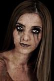 halloween character: zombie girl poster