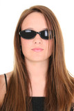 beautiful 14 year old teen girl in dark sunglasses poster