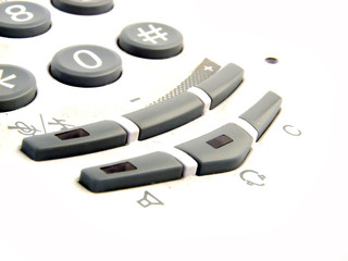 phone keypad closeup