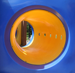 yellow tunnel playground