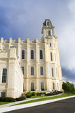 lds manti utah temple – west section poster