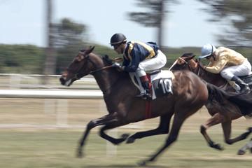sprint entre deux chevaux