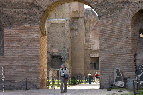 senior on visit to rome's ruins
