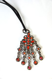 necklace with red stones poster
