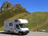 travelling in motorhome poster