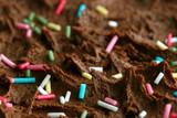 macro of a birthday cake poster