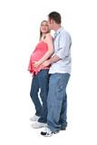 adorable pregnant couple poster