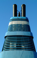 cruise ship smoke stack