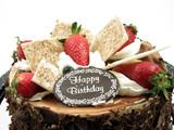 chocolate birthday cake poster