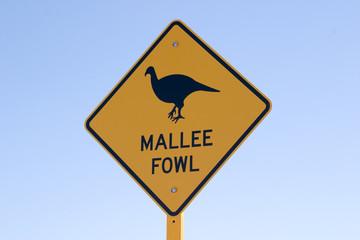 australian mallee fowl sign