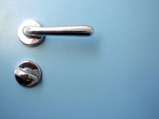 blue door closeup