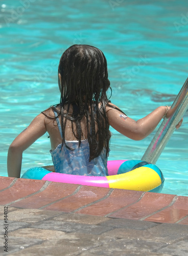 poster of little girl in the pool