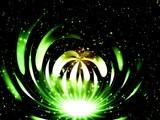 green fantastic light poster