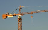 construcion crane close-up poster