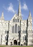 west door - salisbury cathedral poster
