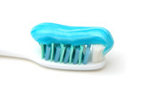 close up of toothbrush with gel poster