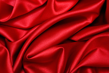 red satin wave