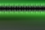green audio wave form poster