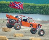 orange sand car landing poster