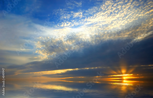 canvas print picture beautiful sunset