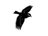 monochrome songbird poster