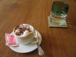 a soothing cappuccino - another delight for your a