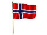 norway silk flag poster