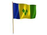 saint vincent grenadines silk flag poster