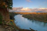 scenic river landscape poster
