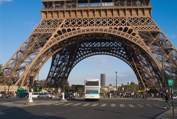 eiffel tower basis, paris, france