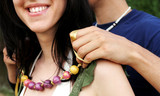 happy couple - necklace gift poster