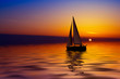 sailing and sunset - 858151