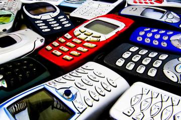 stylised mobile phones