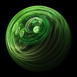 green solar system poster