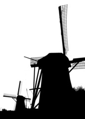 dutch windmills in kinderdijk 10