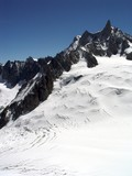 chamonix, the mont blanc area poster