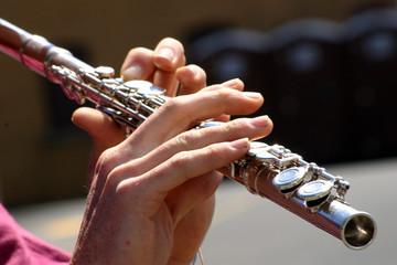 a flutist  hands