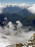 panoramic view valley of chamonix poster