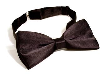 a black bow tie