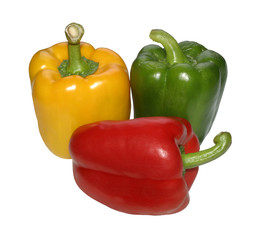peppers, different colors