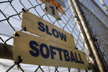 batting cage sign