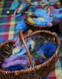 wool in baskets 1 poster
