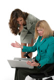 two business women working on laptop 12 poster