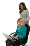 two business women working on laptop 14 poster