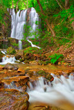 waterfall in the woods in countryside macedonia poster