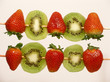 strawberries and kiwi skewers