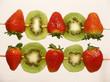 strawberries and kiwi skewers