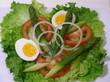 tomato,egg and asparagus salad